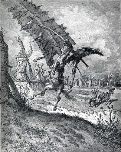 The Adventure with the Windmills - Gustave Dore