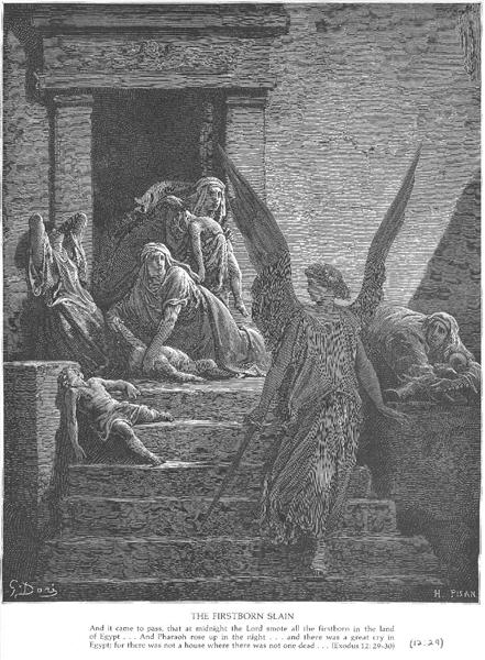 The Firstborn of the Egyptians Are Slain - Gustave Doré