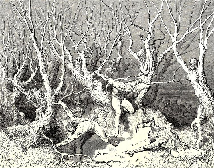 The Inferno, Canto 13 - Dore Gustave