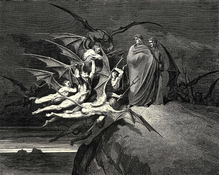 The Inferno, Canto 21 - Gustave Doré