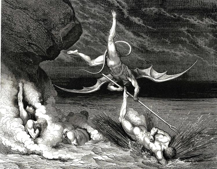The Inferno, Canto 22 - Gustave Dore