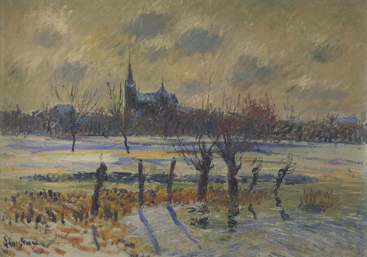 Color art nantes - Flood At Nantes 1909 Gustave Loiseau