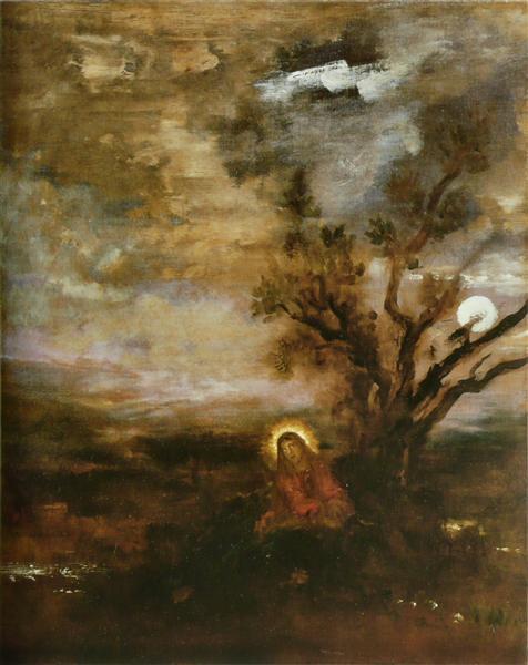 Christ in the Garden, c.1880 - Gustave Moreau