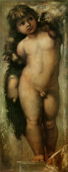 Copy of Raphael's Cherub, 1858 - Gustave Moreau