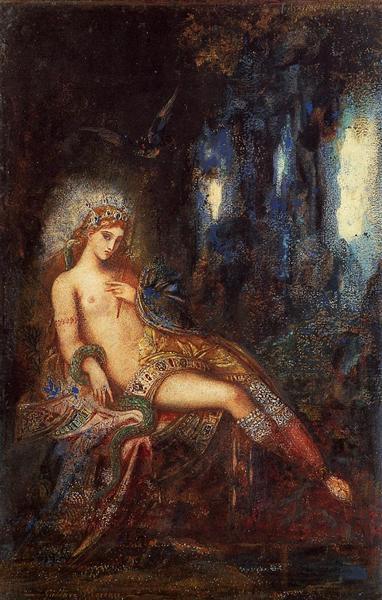 Goddess on the Rocks, c.1890 - Gustave Moreau