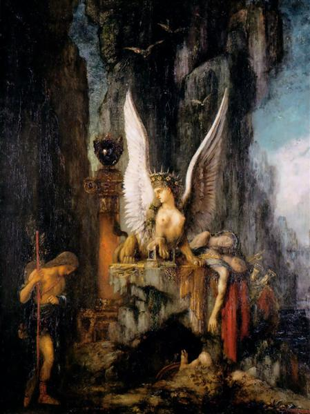 Oedipus the Wayfarer, c.1888 - Gustave Moreau