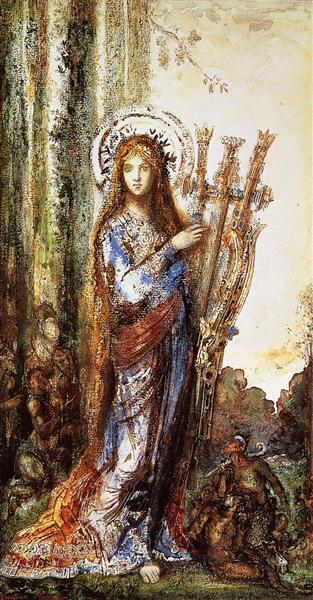 Satyrs - Gustave Moreau - WikiArt.org - encyclopedia of ...