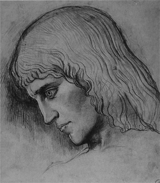 Studyfor theheadof`Oedipus, c.1860 - Gustave Moreau