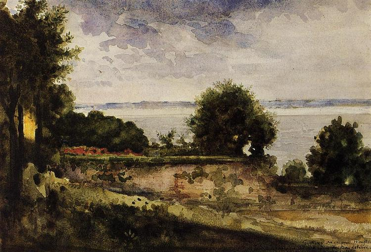 View of the Garden of Madame Aupick, Mother of Baudelaire, c.1864 - Gustave Moreau