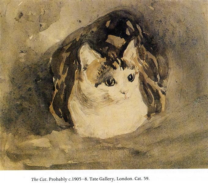 The Cat, c.1905 - c.1908 - Gwen John