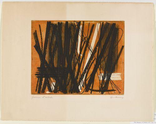 Etching #5, 1953 - Hans Hartung
