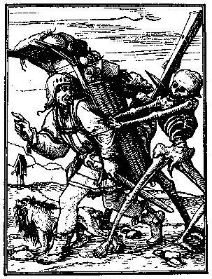 Death and the Pedlar, c.1538 - Hans Holbein the Younger
