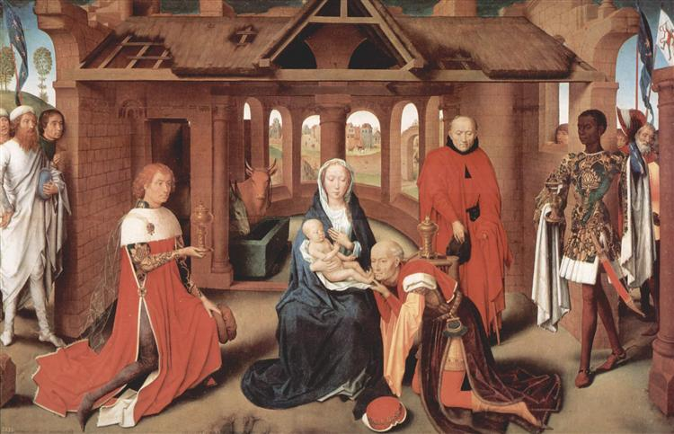 Adoration of the Magi, central panel of the Triptych of the Adoration of the Magi, c.1470 - 1472 - Hans Memling