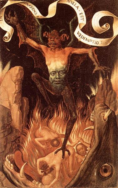 Hell, c.1485 - Hans Memling - WikiArt.org