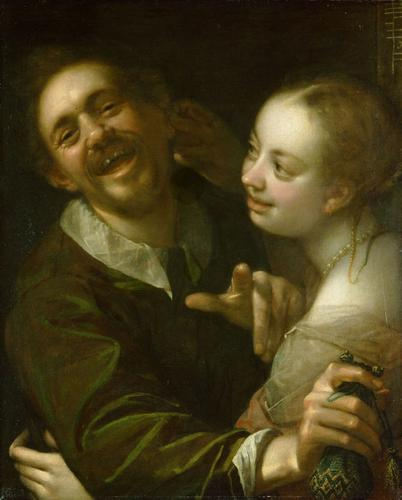 A couple at a guesthouse, 1596
