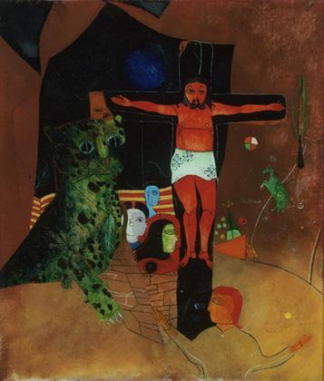 Mystical Crucifixion, 1928 - Heinrich Campendonk