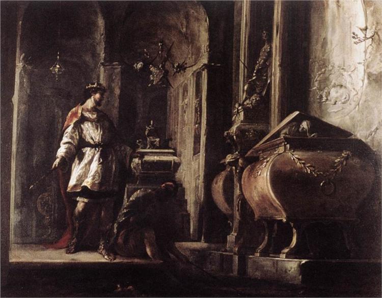 Alexander the Great before the Tomb of Achilles, 1630 - Іоганн Генріх Шонфельд