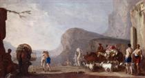 Versöhnung Jakobs mit Esau - Johann Heinrich Schönfeld