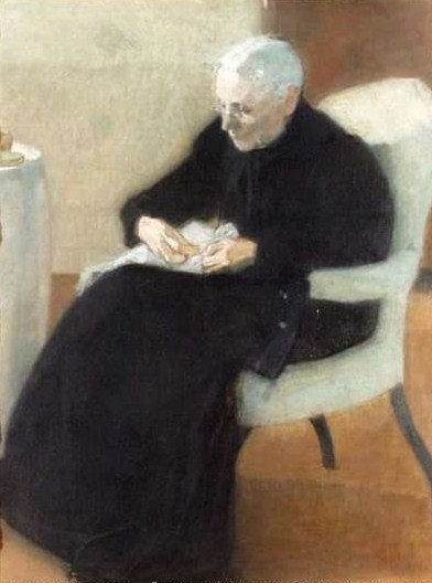 At Home Mother Sewing, 1903 - Helene Schjerfbeck