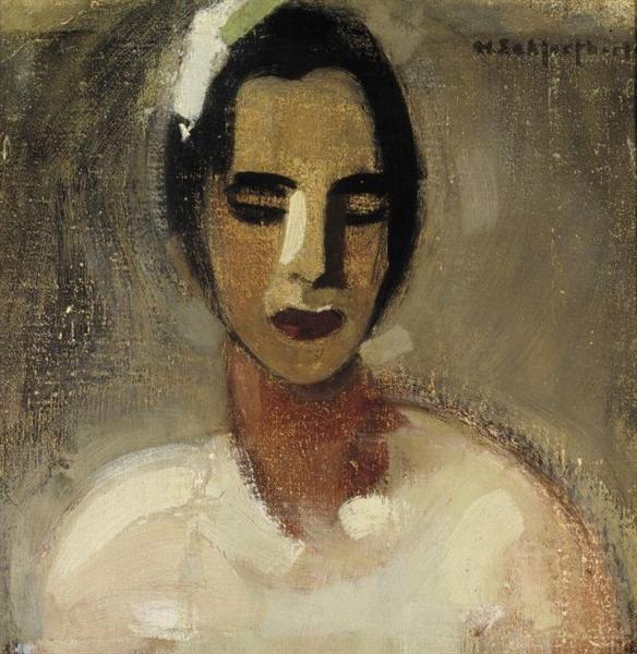 Girl from California, 1934 - Helene Schjerfbeck