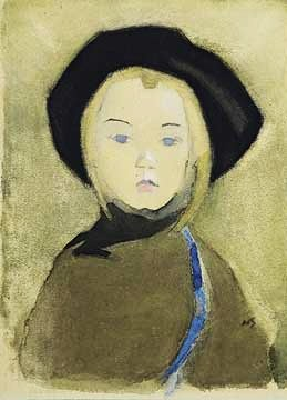 Girl With Blue Ribbon, 1943 - Helene Schjerfbeck