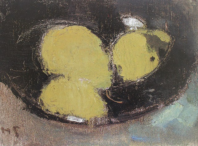 Three Pears in a Vase - Helene Schjerfbeck