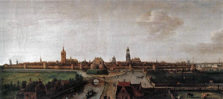 View of Delft from the Southwest, 1615 - Хендрик Корнелис Врум
