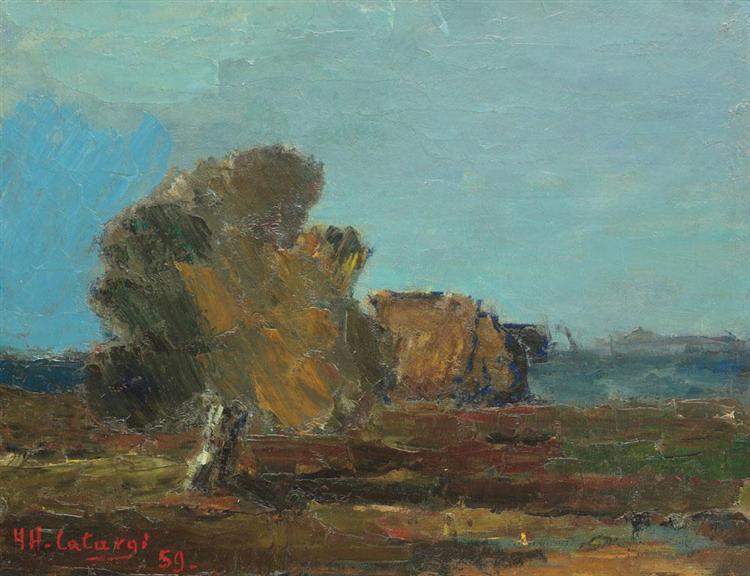Landscape in Arges Valley, 1959 - Henri Catargi