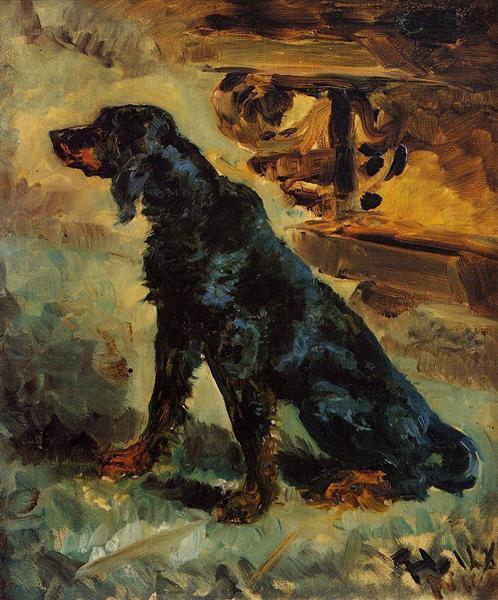 Dun, a Gordon Setter Belonging to Comte Alphonse de Toulouse Lautrec, 1881 - Henri de Toulouse-Lautrec
