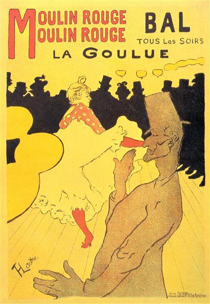 Moulin Rouge La Goulue, 1891 - Henri de Toulouse-Lautrec