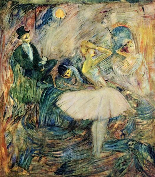 The Dancer in Her Dressing Room, 1885 - Henri de Toulouse-Lautrec