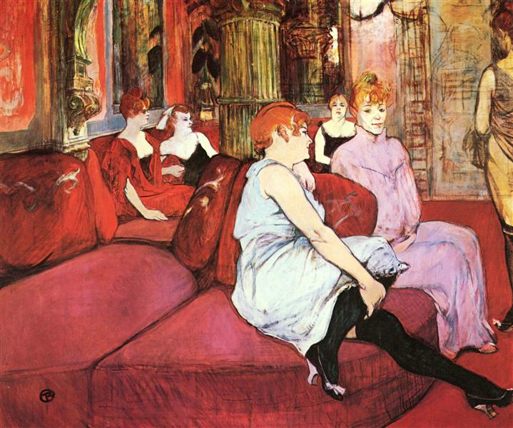 The Salon de la Rue des Moulins, 1894 - Henri de Toulouse-Lautrec