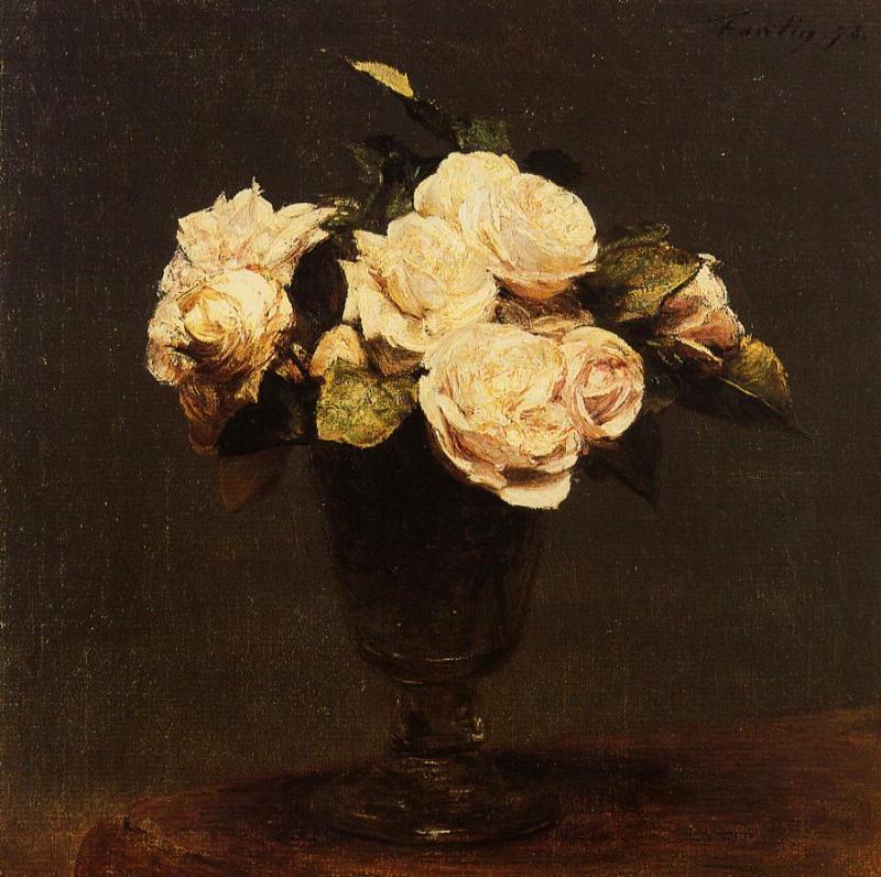 white roses 1873 henri fantin latour. Black Bedroom Furniture Sets. Home Design Ideas