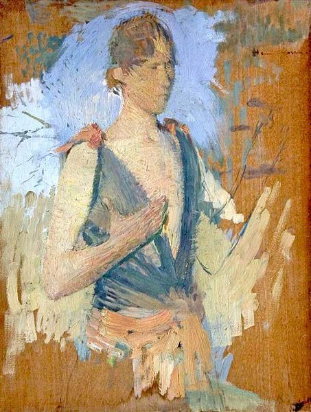 A Young Woman - Henri Martin