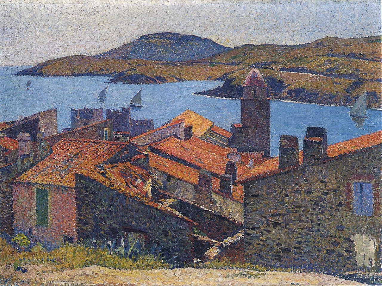 Collioure And Red Roofs Henri Martin Wikiart Org