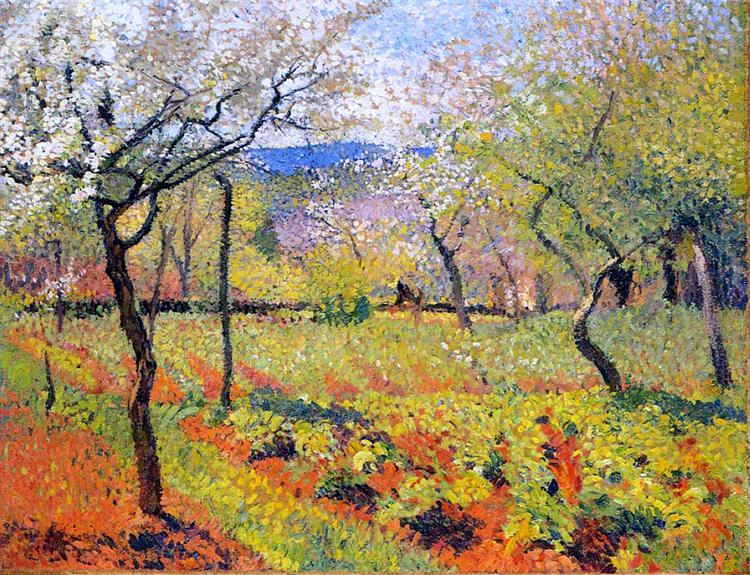Flowering Garden in Spring, 1920 - Henri Martin