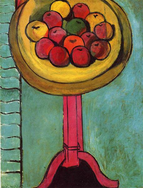 Apples on a Table, Green Background, 1916 - Анри Матисс