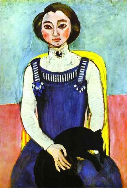 Girl with A Black Cat, 1910 - Henri Matisse