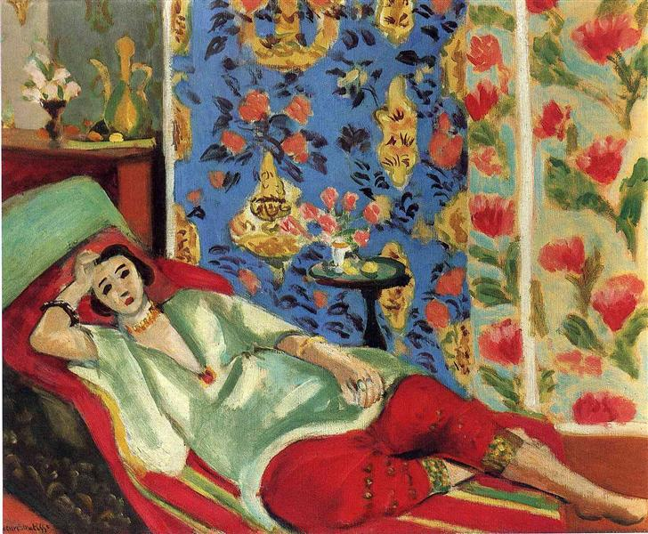 Odalisque in red trousers, 1921 - Henri Matisse