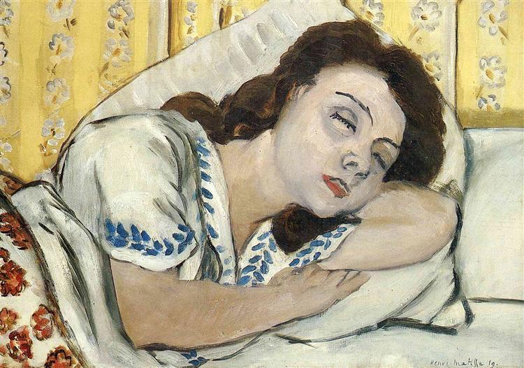 Portrait of Margurite sleeping, 1920 - Henri Matisse