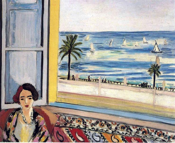 Seated Woman, Back Turned to the Open Window, 1922 - Henri Matisse