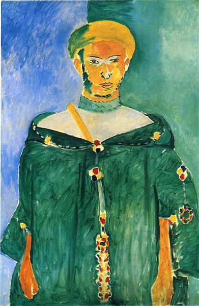 Standing Moroccan in Green (Standing Riffian), 1913 - Henri Matisse