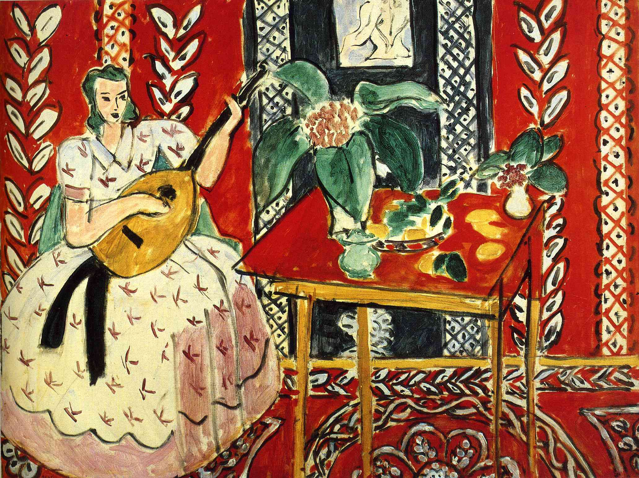 the lute 1943 henri matisse. Black Bedroom Furniture Sets. Home Design Ideas