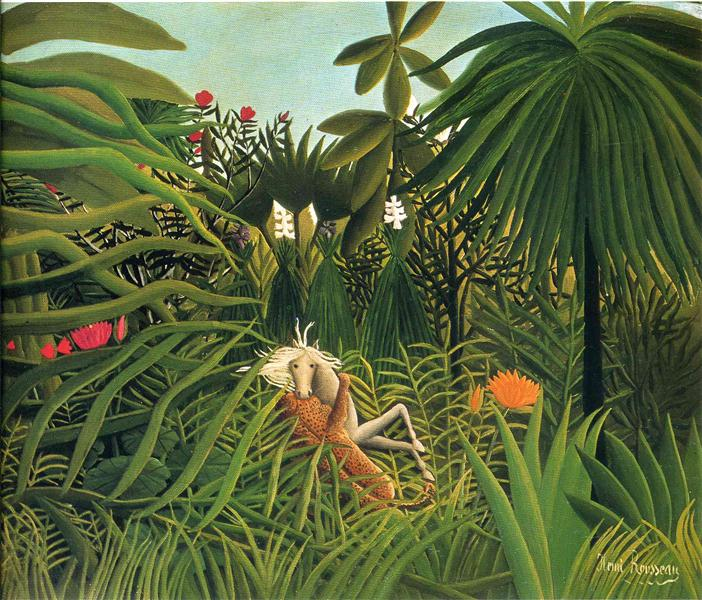 Jaguar Attacking a Horse, 1910 - Henri Rousseau