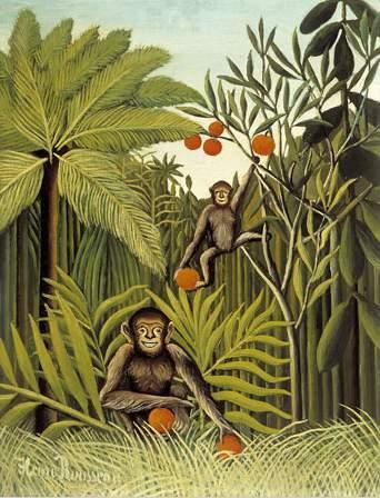 The Monkeys in the Jungle, 1909 - Henri Rousseau