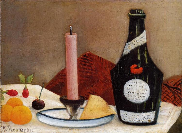 The Pink Candle, 1909 - 1910 - Henri Rousseau