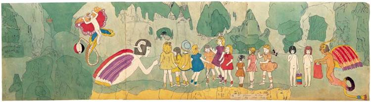 73 At Jennie Richee Escape by Their Help - Henry Darger