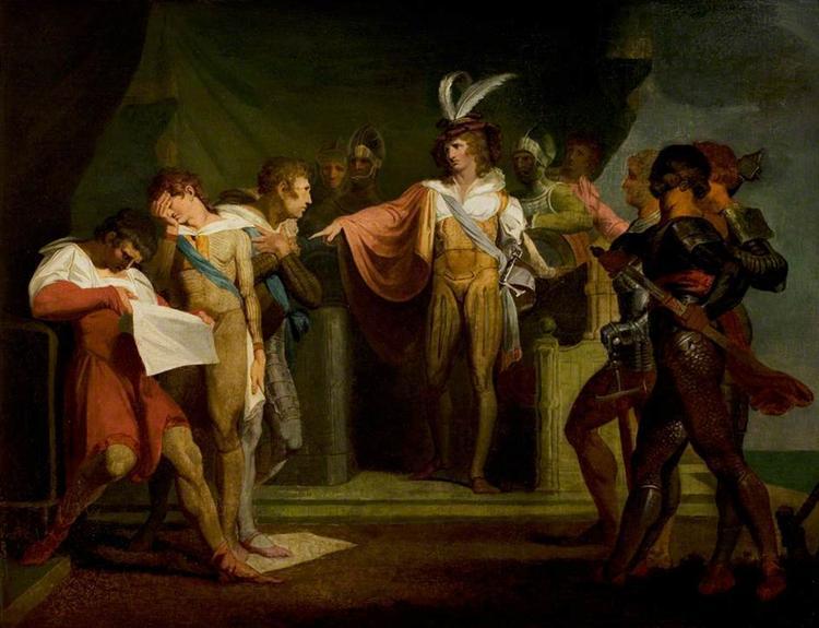 'Henry V', Act II, Scene 2, Henry V Discovering the Conspirators, 1780 - Johann Heinrich Füssli