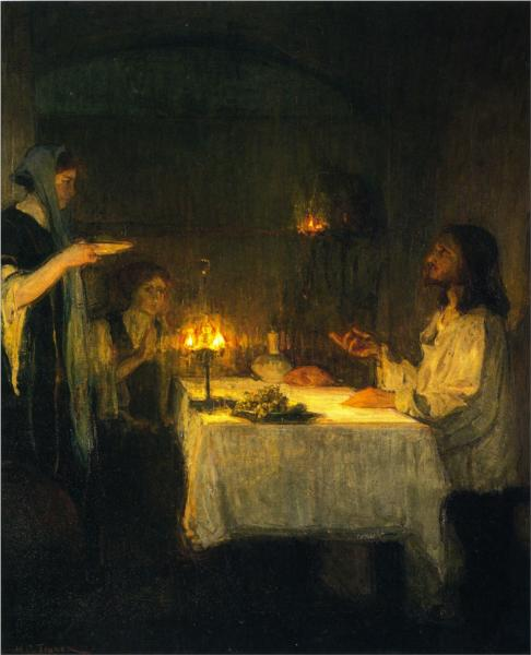 Christ at the Home of Mary and Martha, 1905 - Henry Ossawa Tanner