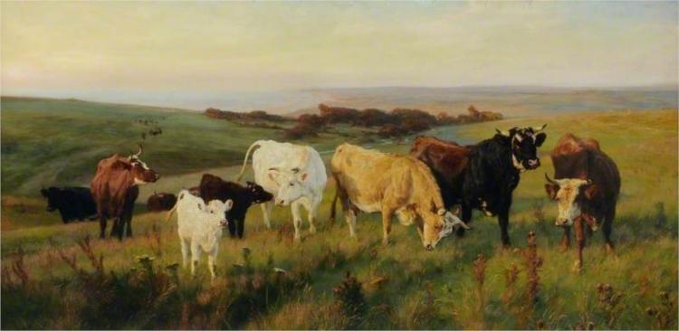 Evening Light, 1878 - Henry William Banks Davis
